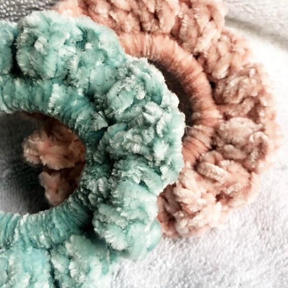 Crochet Velvet Scrunchies