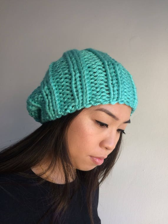 Adult Rocco Knit Beanie in Miami Seafoam