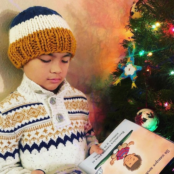 Tri Colored Beanie for Kids