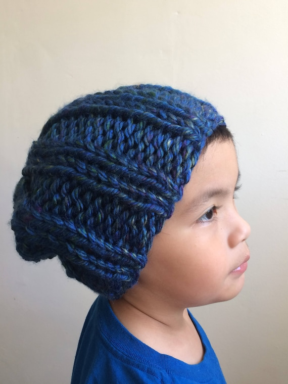 Knit Rocco Beanie in Lake Tahoe Blue - For Kids
