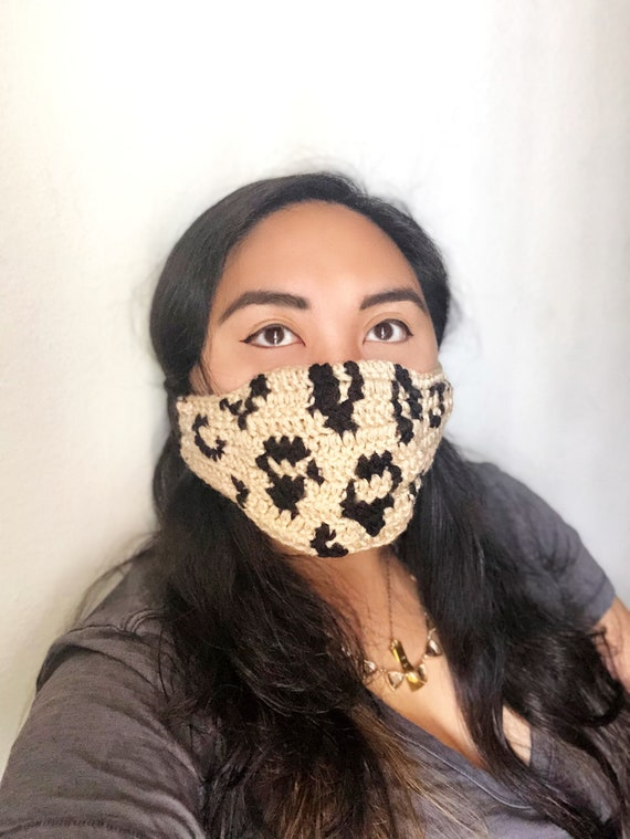 Belle Leopard Crochet Mask Pattern