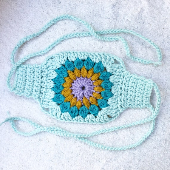 Crochet Flower Face Mask