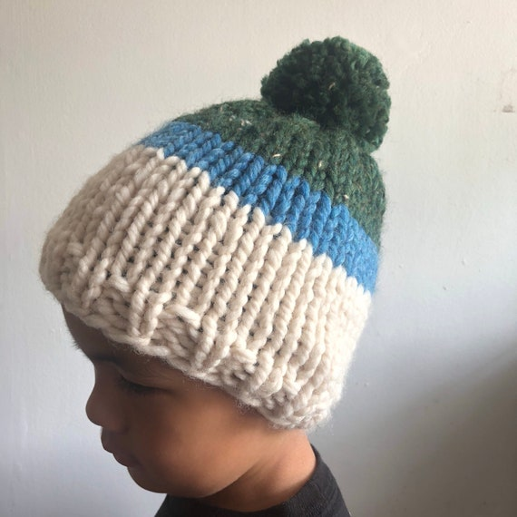 Forest Tweed, Sky and Cream Kids Beanie