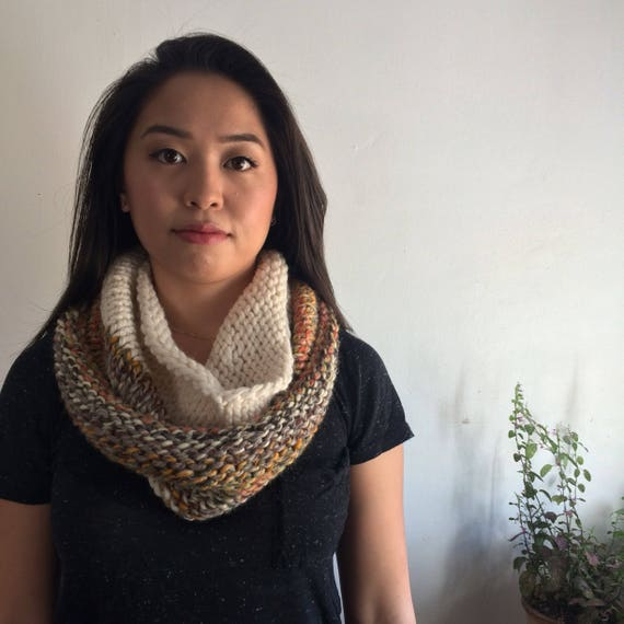 Autumn and Cream Duo Cowl