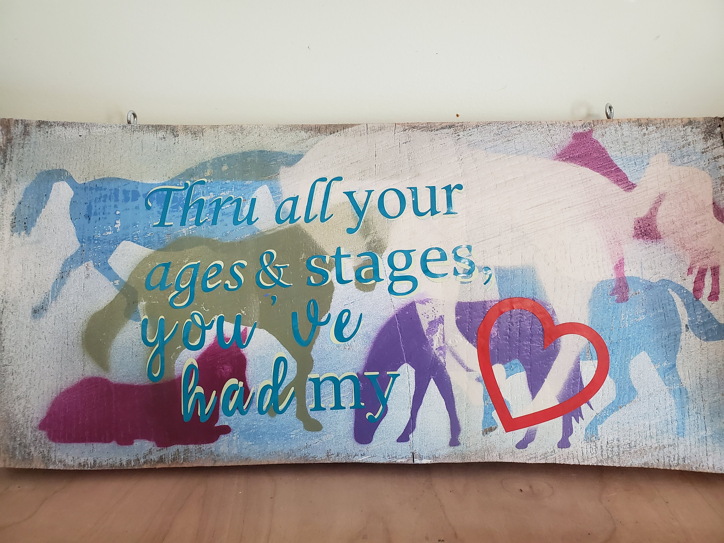 Painted Horse Sign Horse Quote Sign Horse Lovers Gift Etsy