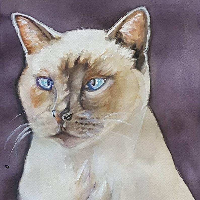 Watercolor painting of your catwatercolor pet portraitspainting from your photo cat portraitpaint your cat cat artwork custom cat