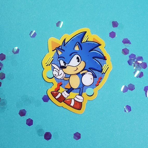 1 Matte Vinyl Sticker Sonic The Hedgehog Sonic Mania Sega Etsy