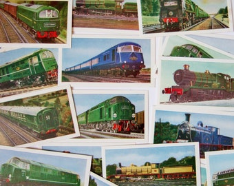 British Rail Cards - 24 Collectable Cards of Trains and Railway Engines, Issued by Clover Dairies - Ideal for Framing or Collage