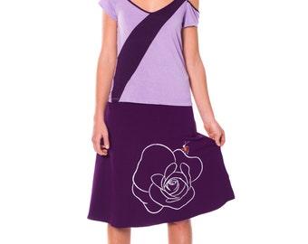 Comfortable skirt, Midi skirt outfit, Floral summer skirts, Knee length skirt, Midi skirt, A line skirt, Stretch cotton skirt - Bug and rose