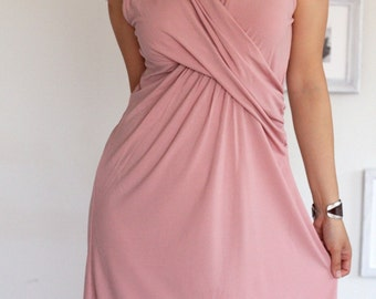 Dusty Pink Knee length Dress-The Kite Runner-size Large