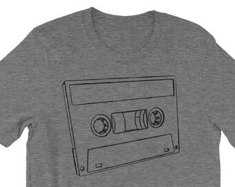 Gift for Him, Cassette T Shirt, Music Gift, for Music Lover, Music Shirt, Music Tshirt