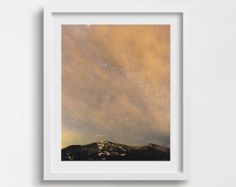 Wilderness Wall Art, Starry Night Sky Print, Starry Night, Night Sky, Night Sky Print,  Mountain Poster, Landscape Poster, Landscape Prints