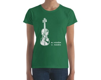 56720ad4 Fiddle, Not Violin - Violin Shirt, Fiddler TShirt, Fiddle Player, Americana  Music, Country Girl, Rodeo Shirt, Musician Gift, Fiddler Gift