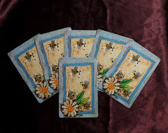 Vintage Busy Bees  / Playing Cards