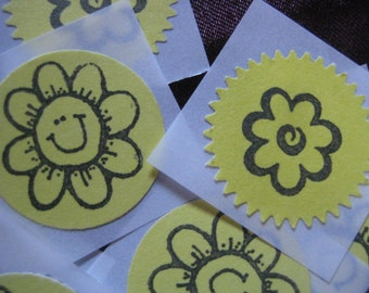 Happy Flower Stickers