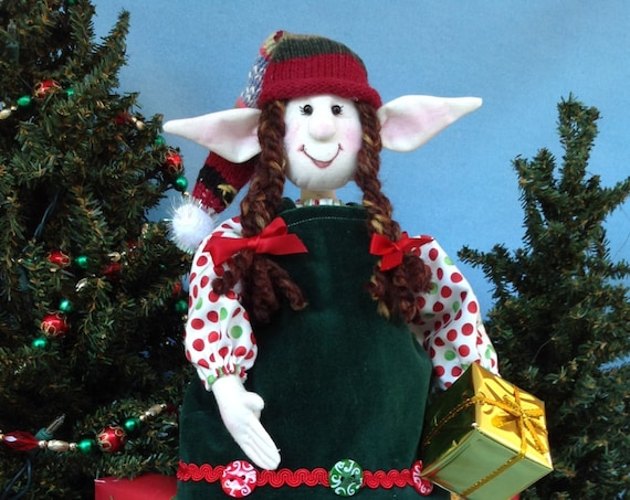 Agnes - Mailed Cloth Doll Pattern 19in Christmas Girl Elf