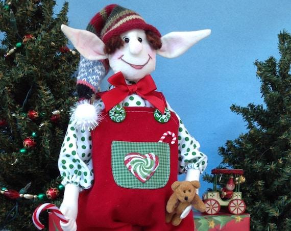 Abner - Mailed Cloth Doll Pattern Christmas Boy Elf
