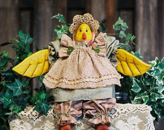 Little Chick a Dee - Cloth Doll E-Pattern - 19in Little Country Girl Chicken Bird Doll