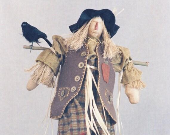 Ebeneezer - Cloth Doll E-Pattern - 24in Halloween Autumn Country Scarecrow