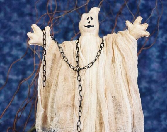 Ghost - Cloth Doll E-Pattern - 30in Halloween Ghost Epattern