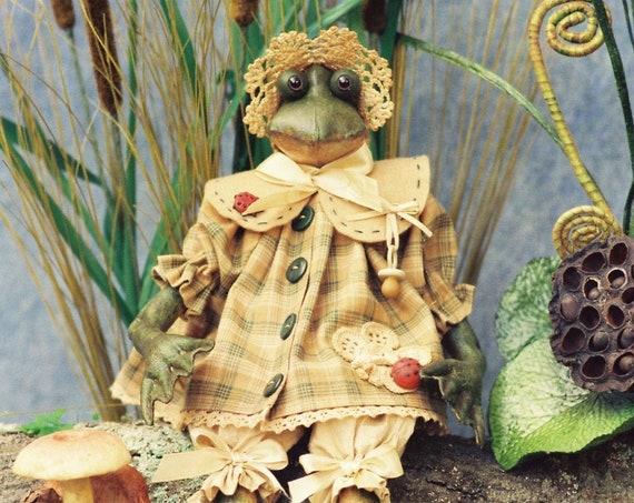 Tadpole - Cloth Doll E-Pattern - Cute little Baby Frog Doll ePattern