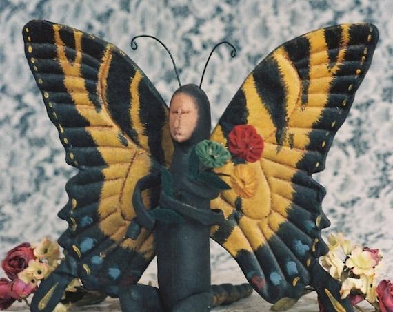 Swallowtail - Cloth Doll E-Pattern - Beautiful 12 in Butterfly Art Doll epattern