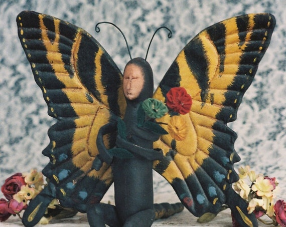 Swallowtail - Mailed Cloth Doll Pattern - 12 in Butterfly Bug Doll