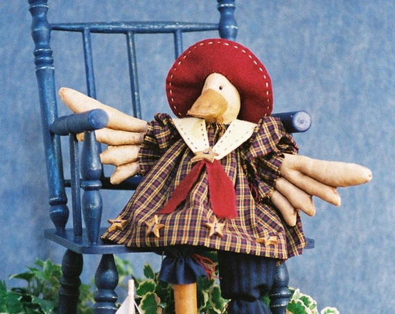Just Ducky - Cloth Doll E-Pattern - 19in Cute Girl Duck Sailor Bird Doll Epattern