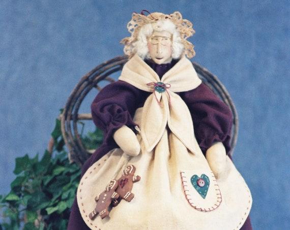 Mrs. Claus - Cloth Doll E-Pattern - 24in Mrs. Santa Claus Epattern