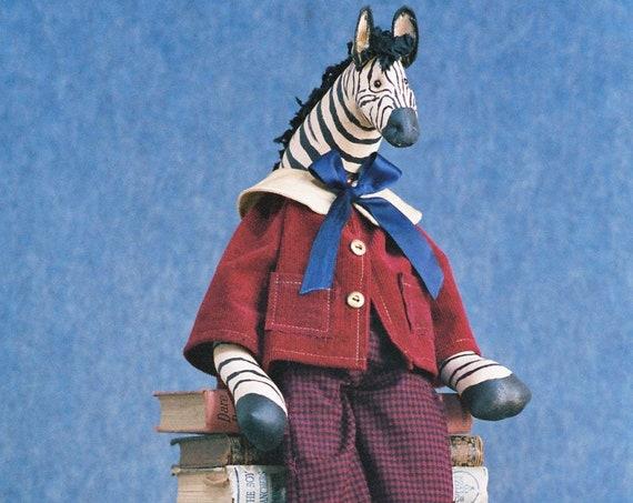 Zachary - Cloth Doll E-Pattern - 25 inch Boy Zebra Doll ePattern