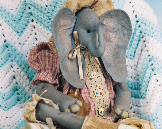 Peanuts - Cloth Doll E-Pattern - Adorable 24 inch Baby Elephant epattern