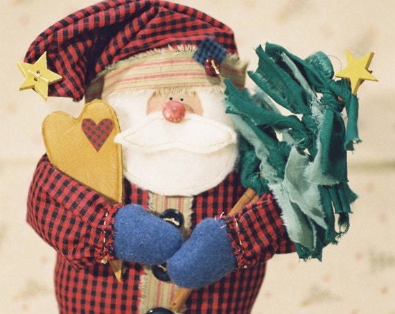 Lil Nick - Cloth Doll E-Pattern - Small Christmas Santa Doll Epattern