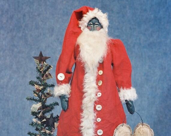 Peace - Mailed Cloth Doll Pattern Folk Art Primitive Santa