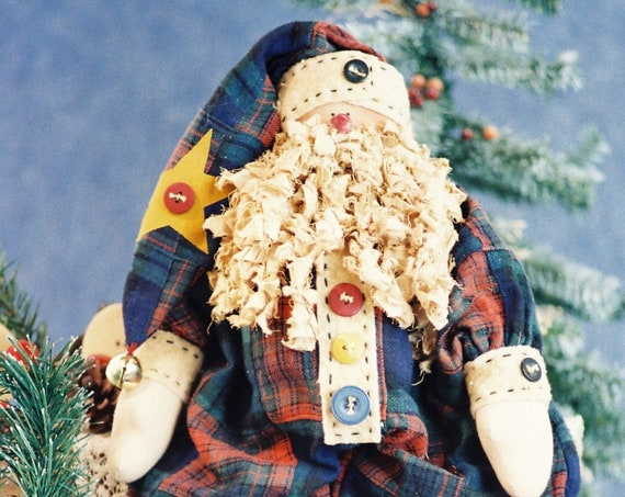 Buttons - Cloth Doll E-Patterns - 19in Folk Art Christmas Santa