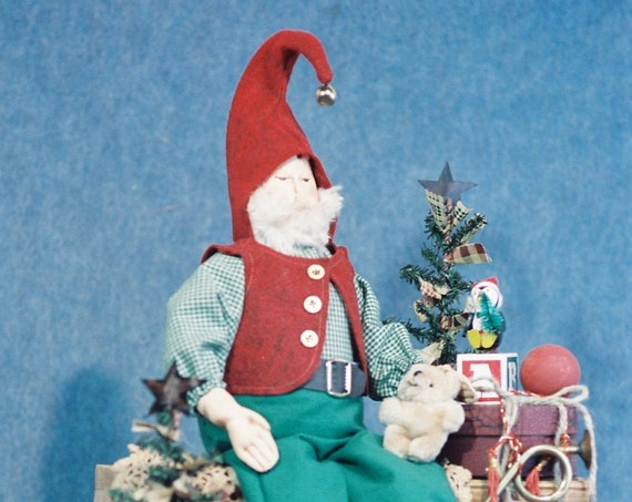 Matthew - Cloth Doll E-Pattern - 24in Christmas Elf Doll Epattern
