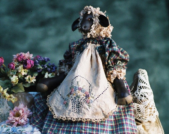 Penelope - Mailed Cloth Doll Pattern Primitive Girl Lamb Sheep