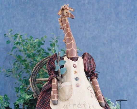 Abigail - Cloth Doll E-Pattern - 27in Country Girl Giraffe epattern