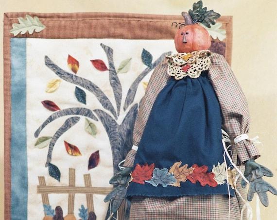 Autumn - Cloth Doll E-Pattern - Fall Autumn Thanksgiving Pumpkin Head Doll pattern