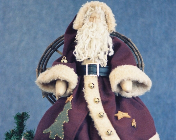 Old World Claus - Cloth Doll E-Pattern - 24in Old World style Santa Claus