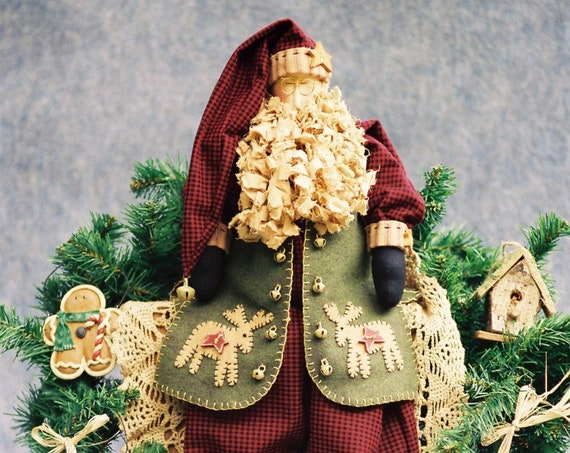 Nicholas - Cloth Doll E-Pattern - Folk Art Country Christmas Santa