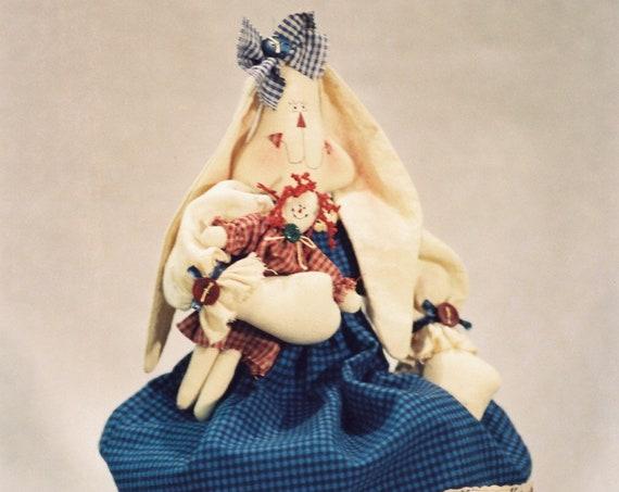 Gina - Cloth Doll E-Pattern- 18in Raggedy Ann Bunny Rabbit Epattern