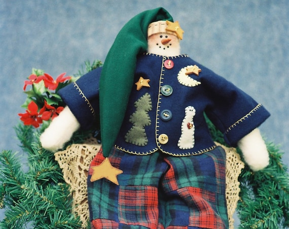 Freezier - Mailed Cloth Doll Pattern - 23in Winter Fantasy Snowman