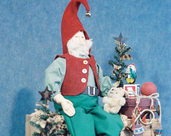 Matthew - Mailed Cloth Doll Pattern - 24in Christmas Elf Doll