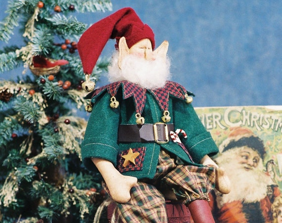 Jingles - Cloth Doll E-Pattern - 18in Cute Christmas Elf ePattern