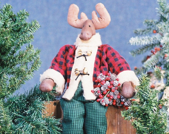 Jack - Mailed Cloth Doll Pattern 23in Holiday Boy Moose