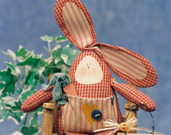 Tooth Fairy Bunny - Mailed Cloth Doll Pattern 13in Tooth Fairy Keepsake Bunny Rabbit Doll