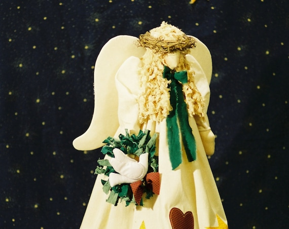 Heavenly Peace - Cloth Doll E-Pattern- 21in Christmas Angel Epattern