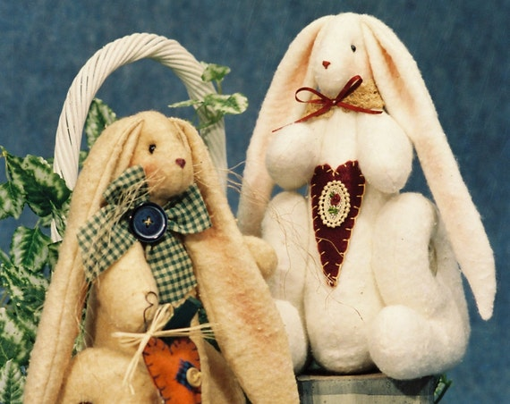 O'Hare - Mailed Cloth Doll Pattern 10in Cute Sitting Bunny Rabbit