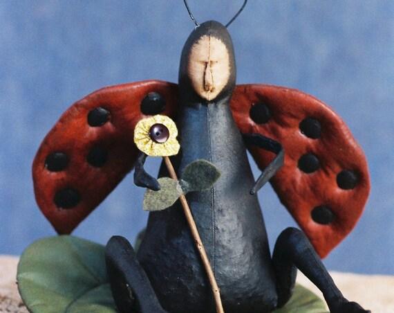 Lady Bug - Mailed Cloth Doll Pattern - Lady Bug pattern
