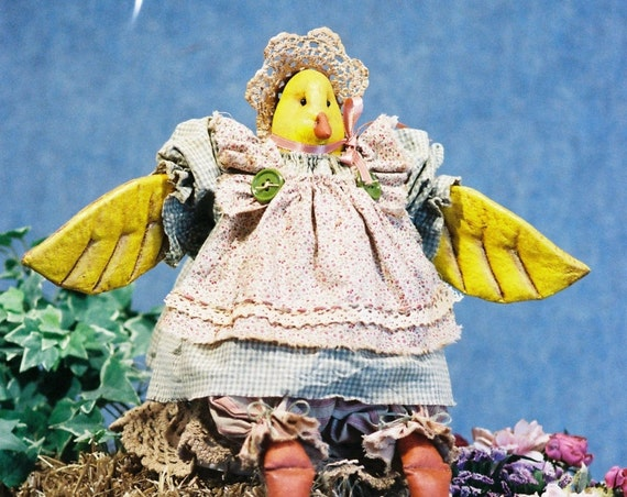 Little Chick a Dee - Mailed Cloth Doll Pattern  19in Little Country Girl Chicken Bird Doll